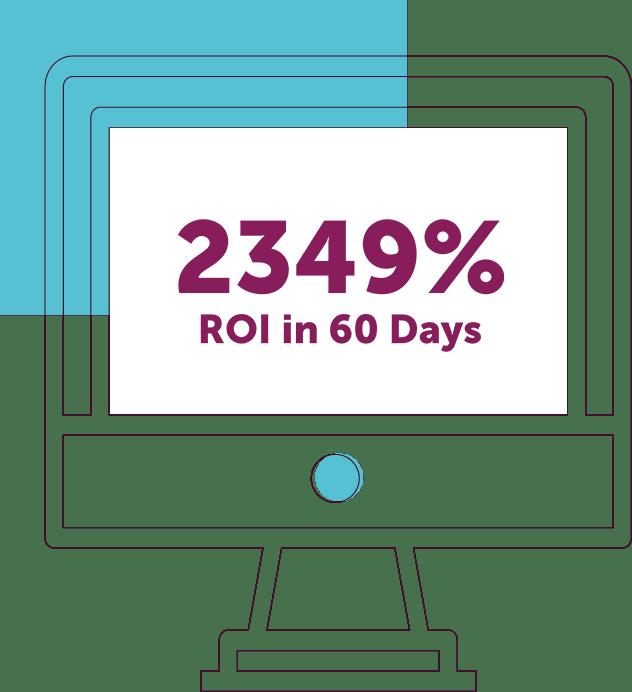 2349% ROI in 60 Days